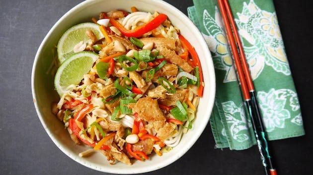 Recept pad thai met tempeh   Maaltijdboxen