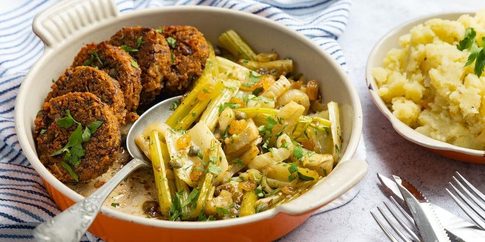Sparc Kitchen meatless burgers met puree en ovengroenten   Maaltijdbox recepten
