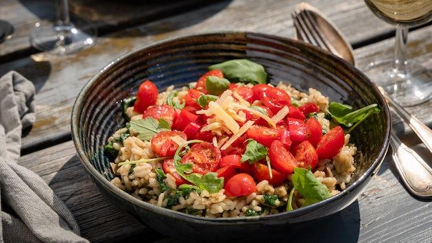 Risotto porcini met spinazie en cherrytomaat   Maaltijbox recepten