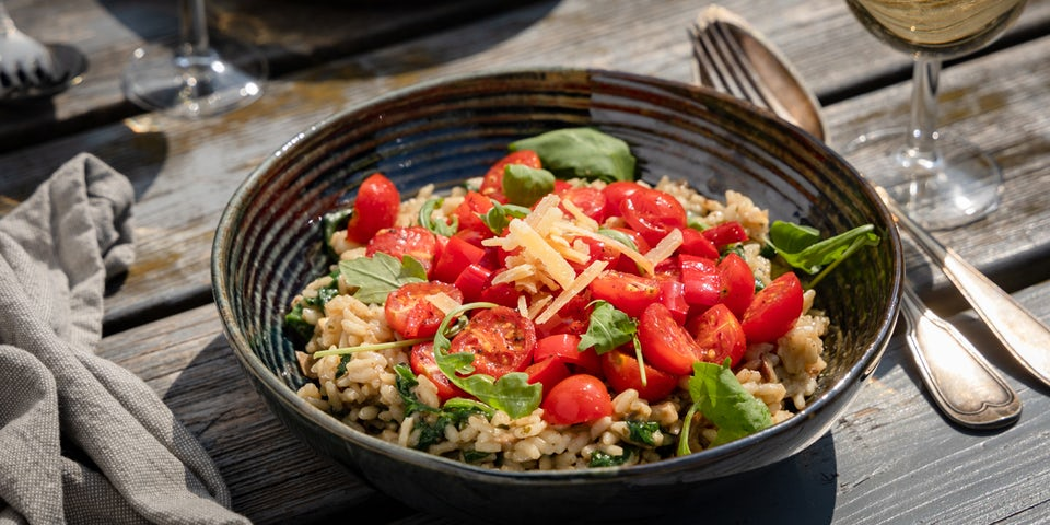 Risotto porcini met spinazie en cherrytomaat | Maaltijbox recepten