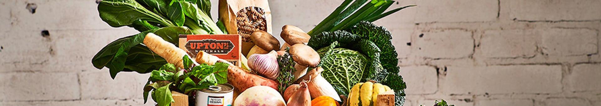 Gevarieerd eten met verschillende groenten