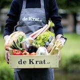 Maaltijdbox met lokale producten, streekproducten, vlees van de boer, duurzame vis.