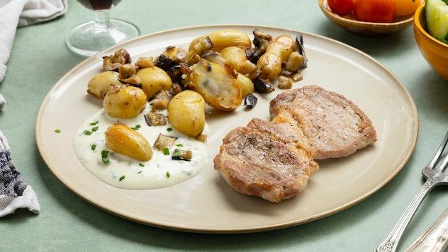 Procureursteak met gebakken aardappelen en groenten   Recept uit de Snelle maaltijdbox
