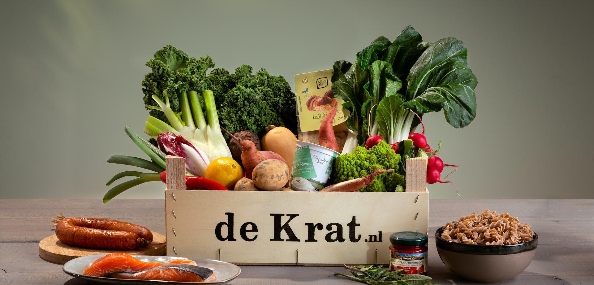 Snelle Krat productfoto maaltijdbox