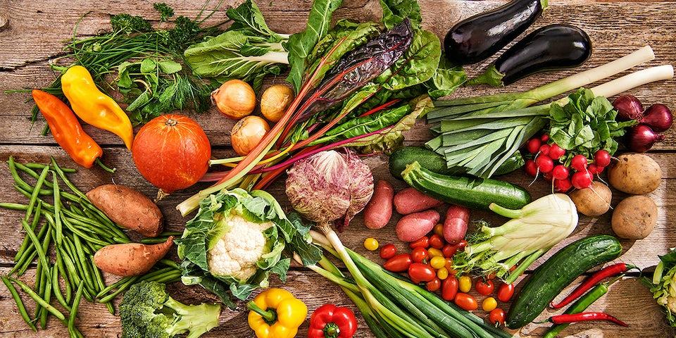 Duurzame lokale producten van het seizoen