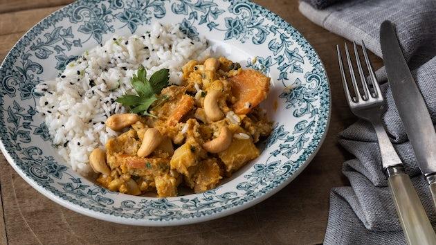 Kant en klaar maass pompoen mango curry