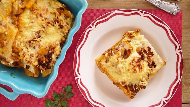 1196 Knolselderij Lasagne Met Gehakt