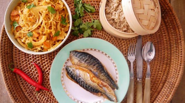 1233 Makreel Met Thaise Penang Curry