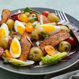 Maaltijdsalade met tempeh spek, krieltjes en ei   Recept uit onze maaltijdbox