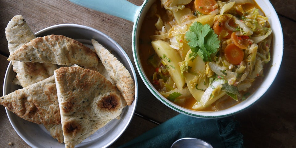 2152 Indische Curry Met Naan