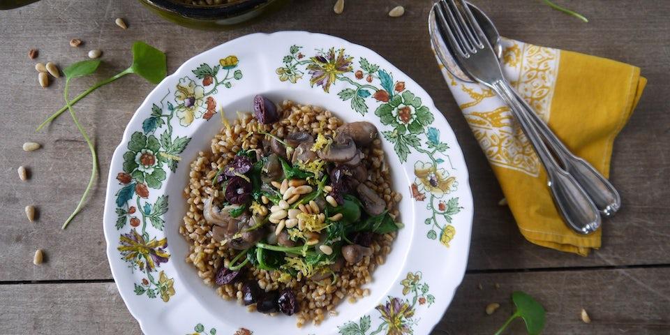 2196 Lauwwarme Salade Van Zeeuwse Vlegel En Winterpostelein