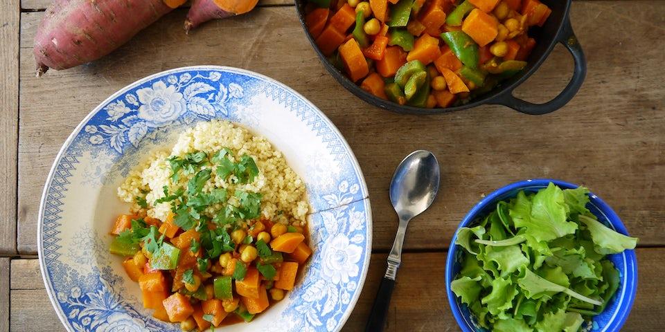 2597 Curry Met Kikkererwten En Zoete Aardappel Uit Nederland