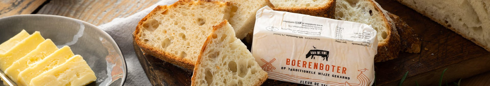 Brood en boter liggend klein