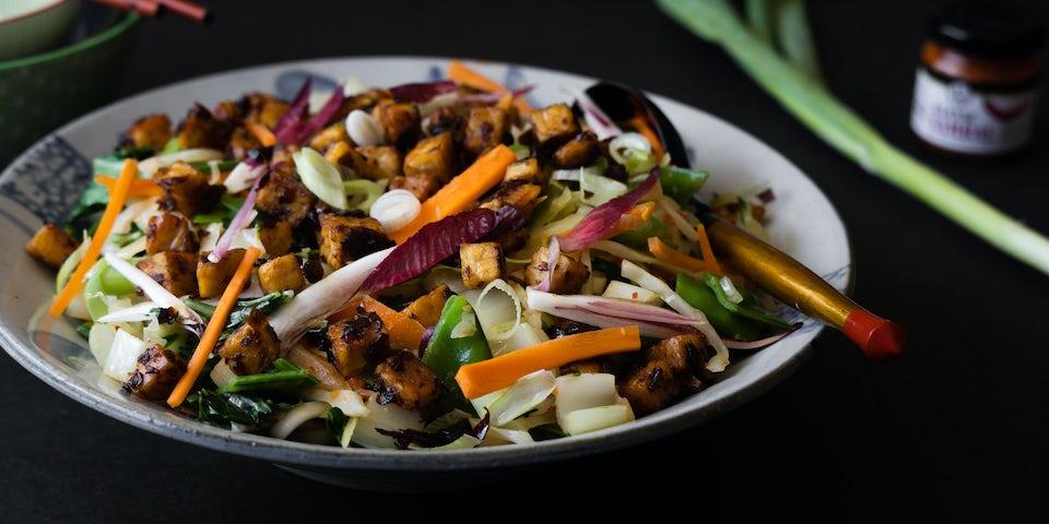 Wk 36 Noedels met veel groenten en sticky tempeh FP