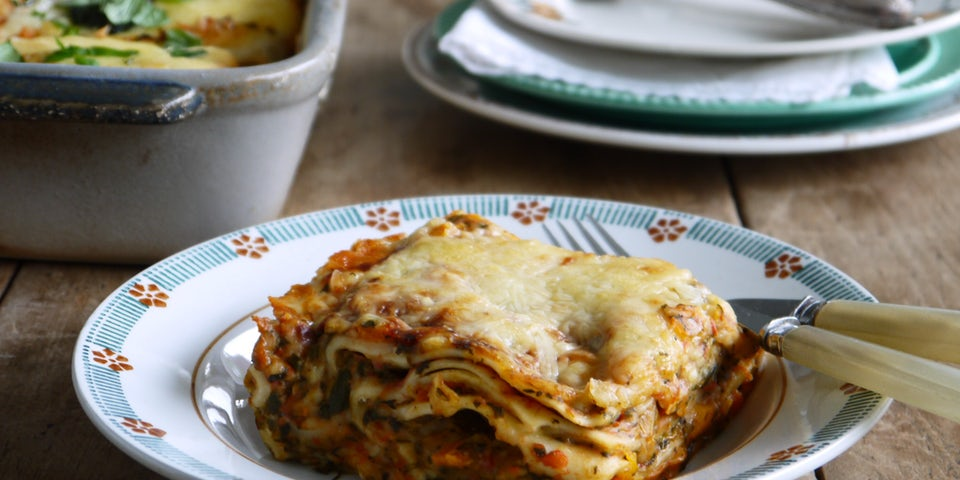 Lasagne vegetariano of pompoen zonder salade FP
