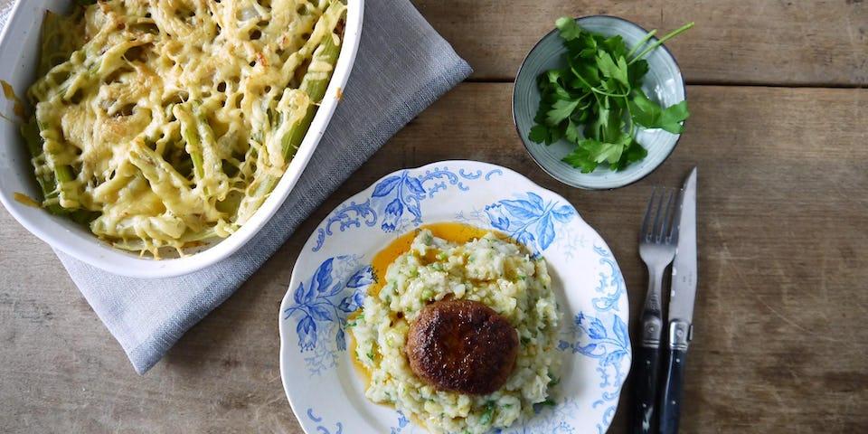 Wk 1 Tartaar speciaal met aardappel aardpeerstampje en bleekselderij