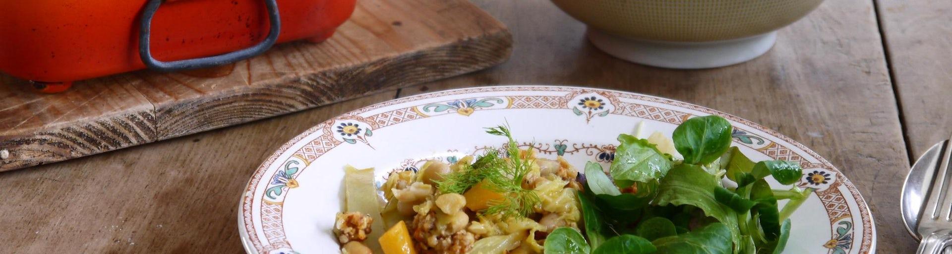 Wk 11 wintergroenten crumble noten kaas