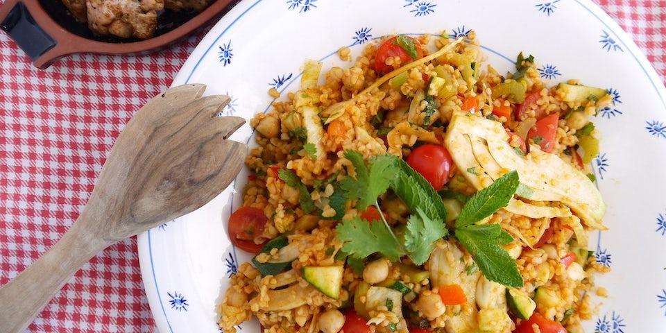Wk 18 kip garam masala bulgur groenten2
