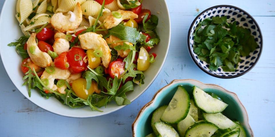 Wk 23 conchiglie vega gamba cherry tomaat rucola fp 2
