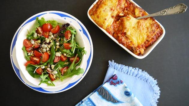Wk 25 lasagne kant en klaar gemengde salade 1