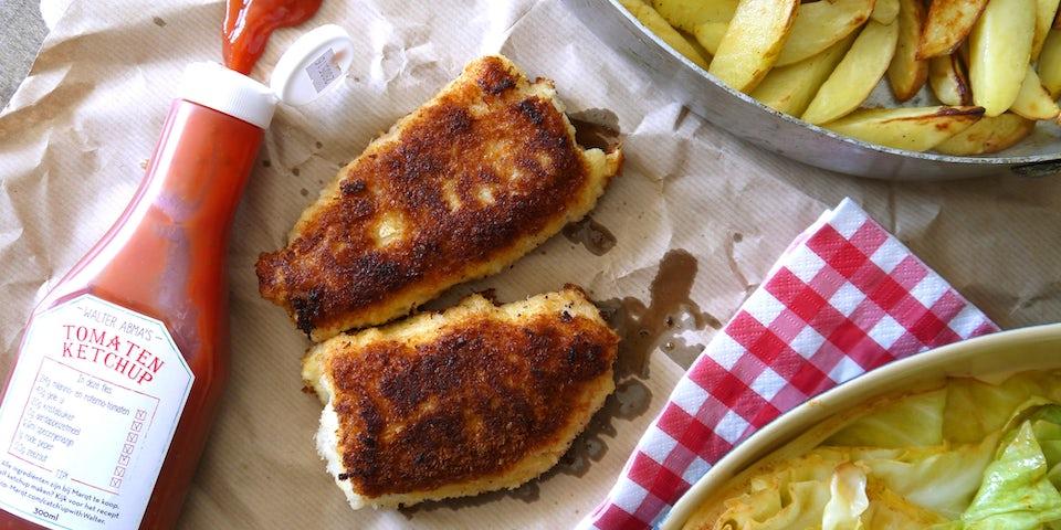 Wk 29 fish and chips met spitskool