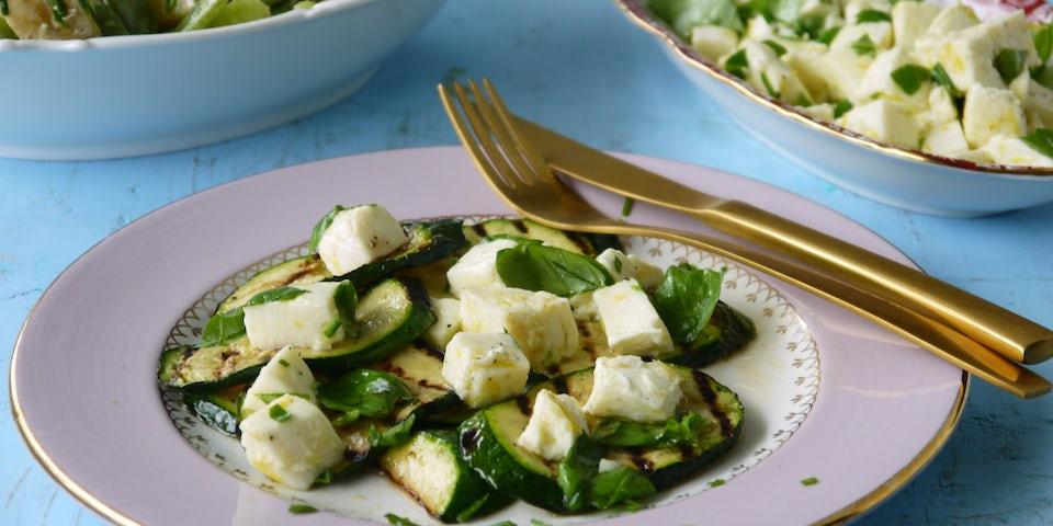 Wk 32 mozzarella courgette aardappelsalade snijboon