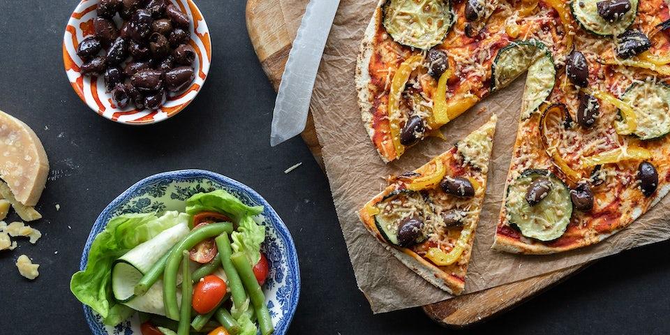 Wk 32 pizza verdura met olijven