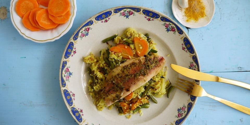 Wk 35 Ikan pepesan forelfilet