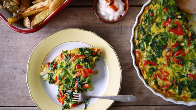 Omelet met snijbiet, ricotta en aardappels | Maaltijdbox
