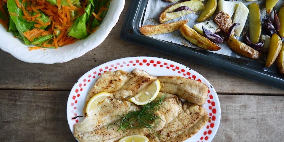 Wk 45 swchol koolrabi ardappels ui salade
