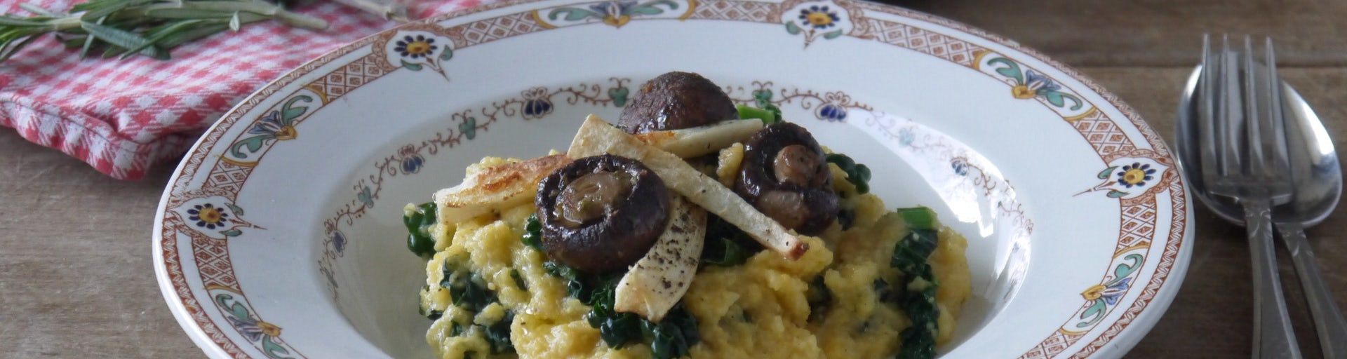 Wk 49 polenta da bomb champignons pastinaakfriet FP