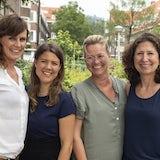 Team van de Krat, Frederique, Eline, Bibia, Tessa