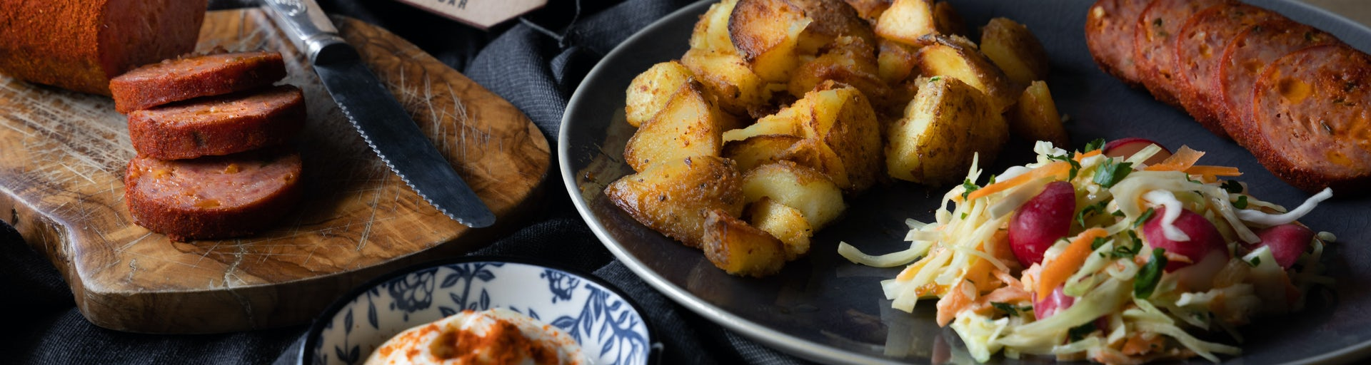 Wk 12 Homemade grillworst met Frieslander aardappelen en coleslaw 2
