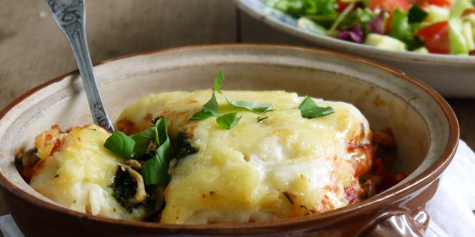 Pastafabriek lasagne bolognese met salade   Maaltijdbox recepten