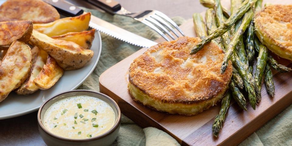 Recept koolrabisteak met bearnaisesaus aardappels en asperges