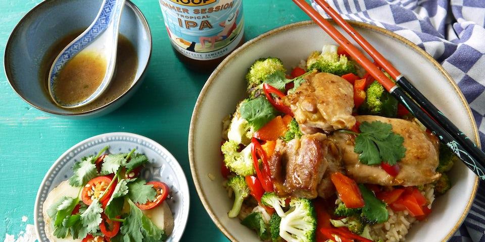 Wk 26 hoop bier kip rijst broccoli 4