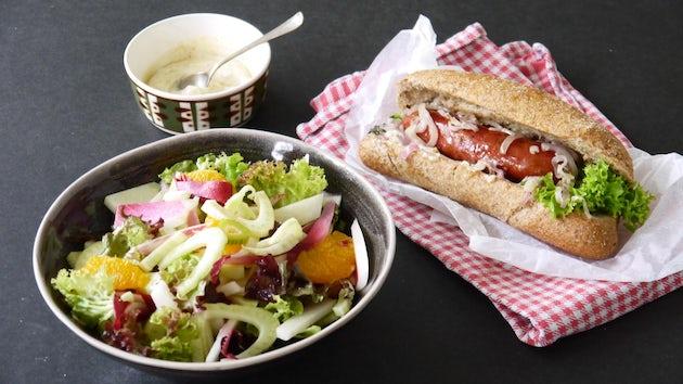 Wk 26 hot dog wild van wild met zomerse salade 4