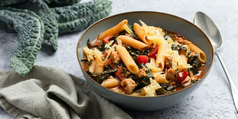 Italiaanse maaltijdsoep met worstgehakt   Maaltijdboxen recepten