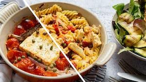 Tiktokpasta met cherrytomaat feta en salade   Maaltijdboxen recepten