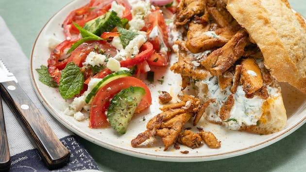 Vega gyros met Griekse salade | Maaltijdbox recepten