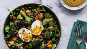 Linzenbowl met broccoli tahindressing en ei   Maaltijdbox recepten