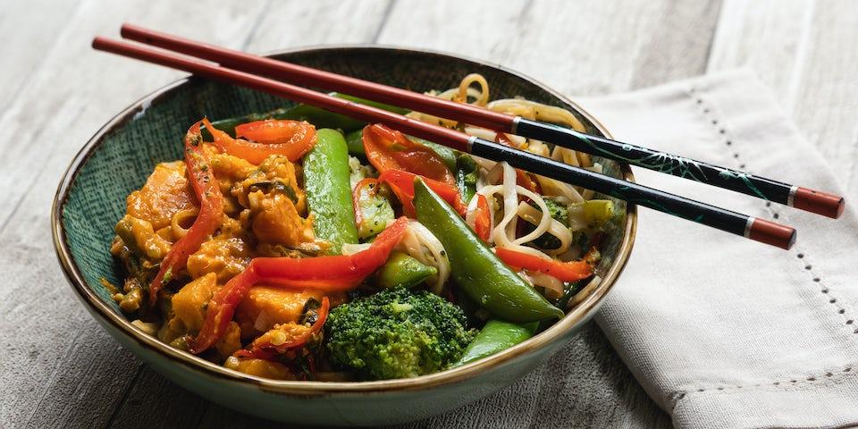 Wk 8 kant en klaar maass asian style veggie curry